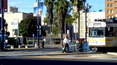 Los Angeles Metro Rail Commuter Train 2 - stock footage