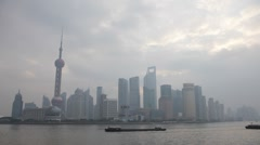 Skyline of Pudong - stock footage