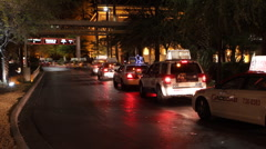 Night taxi traffic in Las Vegas time-lapse Stock Footage