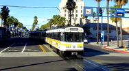 Stock Video Footage of Los Angeles Metro Rail Commuter Train 3