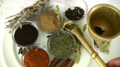 Herbal and Spice - stock footage