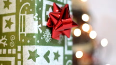 Rotating christmas presents, loopable  - stock footage