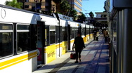 Stock Video Footage of Los Angeles Metro Rail Commuter Train 4