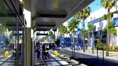 Los Angeles Metro Rail Commuter Train 4 - stock footage