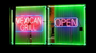 Stock Video Footage of Mexican Grill At Night 1