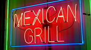 Stock Video Footage of Mexican Grill At Night 2