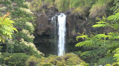 Hawaii Pe'epe'e Falls view Stock Footage