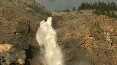 Takkakaw Waterfalls tilt down pj 19 Stock Footage