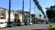 Ocean Boulevard In Belmont Shore Stock Footage