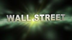 WALL STREET Title Transition Stock Footage