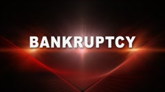 BANKRUPTCY Title Transition 2 Stock Footage