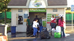 People At Recycling Center 1 Stock Footage