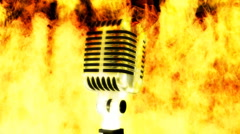 Spit Fire Music Looping Animated Background Stock Footage