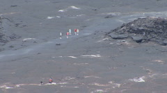 Hawaii Tourists in Kilauea Iki Crater 5 Stock Footage