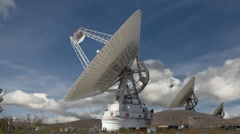 Satellite Dishes Align in Very Large Array (VLA) - stock footage