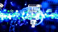 Magic on The Mic Looping Animated Background Stock Footage