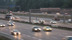 Timelapse video of day time traffic on the highway Stock Footage