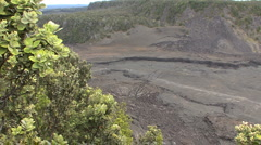 Hawaii Zooms on fissure Kilauea Iki  Stock Footage