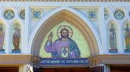 St. Anthony's Church- Long Beach, CA 5 Stock Footage