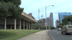 Honolulu Hawaii State Capitol  2 Stock Footage
