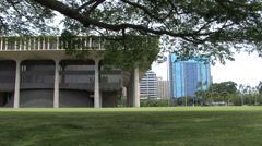 Honolulu Hawaii State Capitol and buildings  2 Stock Footage