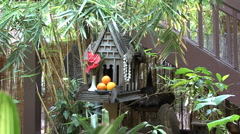 Honolulu spirit house Chinatown 2 Stock Footage