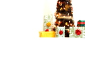 Presents under modern christmas tree, isolated, dolly shot Stock Footage