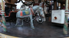 Old traditional carrousel  Stock Footage