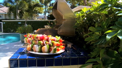 Healthy Fresh Food for the Barbeque - stock footage