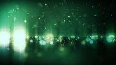 Horizon Particle Loop - Green / Gold - stock footage