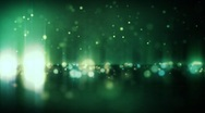 Stock Video Footage of Horizon Particle Loop - Green / Gold