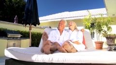 Seniors Health Club Relaxation Stock Footage