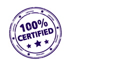 100% Certified - stock footage