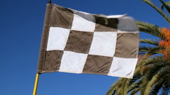 Checkered Flag on Golf Course Stock Footage
