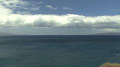 Maui Cloud and rippled sea 2 Stock Footage
