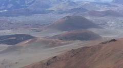 Maui Haleakala crater cinder cones 4 - stock footage