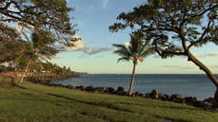 Maui coast in evening  Stock Footage
