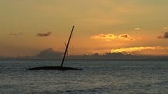Maui Lahaina Sunken boat sunset  Stock Footage