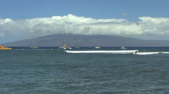 View of Lanai with surfer Stock Footage