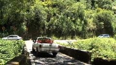 Maui One way bridge on the Hana road  Stock Footage