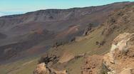Maui Pans Haleakala crater 2 Stock Footage