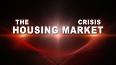 The Housing Market Crisis Stock Footage