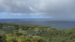Maui Settlement at Huelo by sea Stock Footage