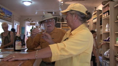 Hawaii Maui Sid and Lynn at winery 3 Stock Footage