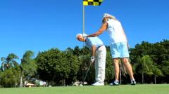 Healthy Seniors Enjoying Golf Stock Footage