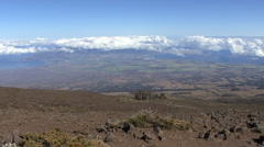 Maui View from Haleakala 4 Stock Footage