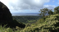 Maui View of sea and valley Stock Footage