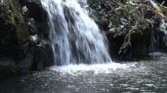 Maui Water falling into pool Hana road  Stock Footage