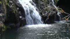 Maui Waterfall zoom Hana road Stock Footage