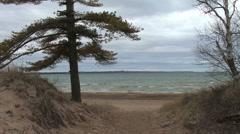 Lake Huron sand dunes Stock Footage